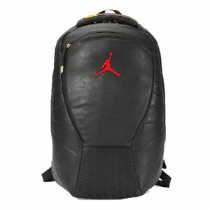 Nike Air Jordan Retro 12 Backpack 9A1773-K25 Leather Black Red Gold