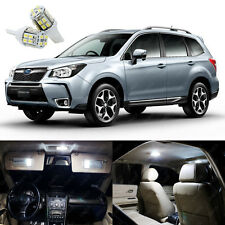10 x Xenon White LED Interior Lights Package Kit For Subaru Forester 1998 - 2018