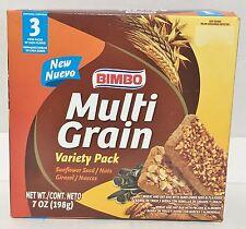 7oz Bimbo Multi Grain Bars Nuts Flaxseed Variety Pack