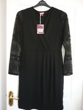 Joe Browns Simplistic Black Jersey Lace Party Dress UK 18 EUR 44-46 US 14