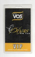 2002 Alberto VO5's Divas on Ice VIP Laminated Backstage Pass