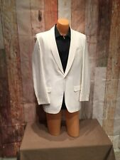 40L 40 Long Fully Lined Vintage Ivory Curved Lapel Mens Tuxedo Jacket