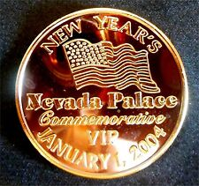 "Nevada Palace - ""New Year's 2004 Numbered VIP Token"" / Las Vegas"