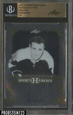 2017 Leaf Metal Pre-Production Proof Clear Gold Phil Esposito BGS 1/1