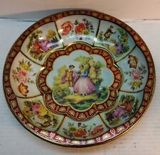 Vintage Daher Decorated Toleware Tray Bowl Dated 1971