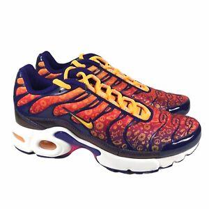 Nike Air Max Plus (GS) Purple Laser Orange Sneakers CI9932-500 Girls Size 4Y