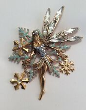 Kirks Folly NWOT Delphine Snow Fairy Snowflake Pin Brooch