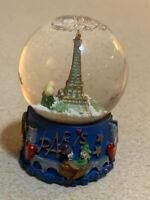 "Eiffel Tower small Snow Globe Paris souvenirs of France 2.5"" Tall"