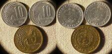 Bulgaria : 3 Coins 10 St 1951 Gem BU #53 ; 3 St 1951 Gem BU #51  IR6464
