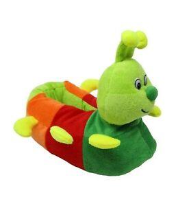 Boys Caterpillar Style Novelty Slippers UK Infant Size 7-8,8.5-9,10-11 & 11.5-12