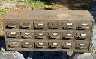 Vintage Industrial 18 Drawer Cabinet ~ Completer & Includes 40 Drawer Dividers