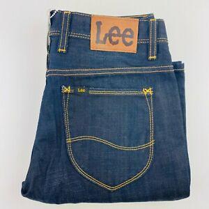 Lee Mens Denim Jeans Straight & Narrow L3 Dark Wash Size 28 RRP:$169.95 BNWT