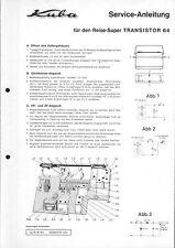 Kuba Imperial Service Manual für Transistor 64