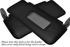 BLACK STITCHING FITS BMW 5 SERIES E34 1984-1997 2X SUN VISORS LEATHER COVERS