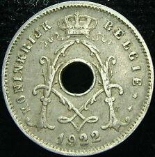 1922 Bélgica Belgie Belgique 5 centavos ctms