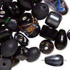 Black Lampwork Glass Bead Mix Fancy Style Jewelry Craft Lot of 70