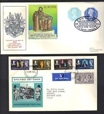 UK GB 1964 WINSTON CHURCHILL SET ON FDC & SPECIAL S/S CENTENARY OF HIS BIRTH ON