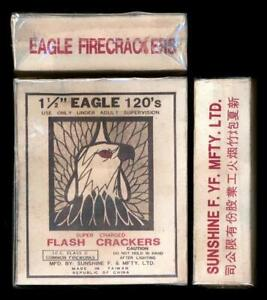 "EAGLE BRAND 1-1/2""X120'S FIRECRACKER BOX CLASS 3 1960'S-1971 PERIOD"
