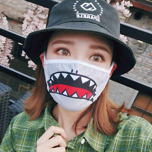 Funny Masks Cover 3D Protective Half Mask Mouth Cosplay Party Expression Face