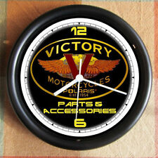 VICTORY MOTORCYCLE 10 inch Resin Wall Clock