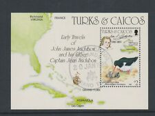 Turks & Caicos - 1985, J Audubon, Birds sheet - F/U - SG MS833