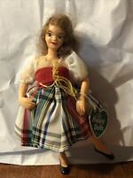 """Vintage Made In Scotland Happy Dolls Dancing Girl 6"""" Tall Strung Arms Real Hair?"""