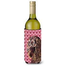 Caroline's Treasures-Valentine' s Love Wine Bottle Beverage Insulator Beverage.