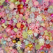 50pcs Assorted Pearl Beads Flatback Craft-Scrapbook-Embellishment-Sew Cards