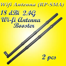 18dBi 2.4G Wifi Antenna Booster RP-SMA For Linksys Router Receiver IP Camera x 2