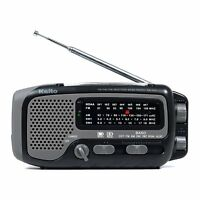 Kaito KA350 Solar Crank AM FM Shortwave Weather Radio Black