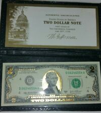 2003 Two Dollar note. with Gold leaf overlay
