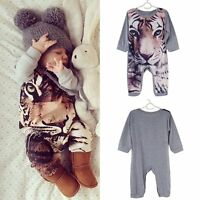 Kids Baby Boy Girls Infant Cotton Animal Romper Jumpsuit Bodysuit Clothes Outfit