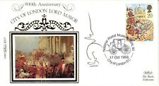 More details for city of london lord mayor first day cover 1989 signed boris johnson