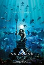 Aquaman 2018 Movie Poster 24 x 36. 2 for $14