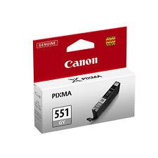 1 GRIGIO CLI-551 genuino, originale Stampante Cartucce Di Inchiostro Per Canon Pixma mg7550