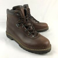 Alico Summit Mens 12 Brown Leather Italian Hiking Trail Mountaineering Boots