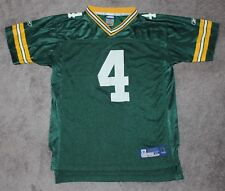 Green Bay Packers Football Jersey #4 Brett Favre Boys XL Youth 18/20 Reebok vtg