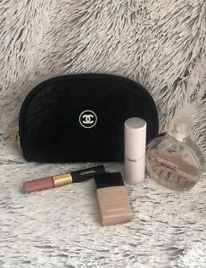 Chan3l Beaute Cosmetic Make Up Bag Mesh Black Lightweight USA Seller