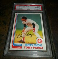 1982 O-pee-Chee OPC #255 TONY PEREZ HOF BOSTON RED SOX GEM MINT PSA 10