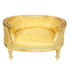 PET FRANCE BAROQUE STYLE DOG / CAT BEDS GOLD / GOLD #F6MB60
