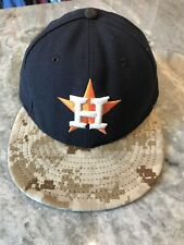 Houston Astros New Era 6 7/8 Navy Camo Baseball Cap