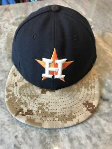 Houston Astros New Era 6 7/8 Navy Camo Baseball Cap