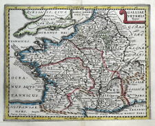 FRANCE, Van Den Keere, Cluver, Jansson original antique map 1661