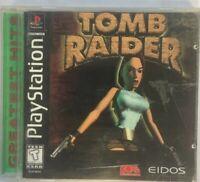 Tomb Raider Featuring Lara Croft (Sony PlayStation 1, 1998) Complete PS1 NTSC-UC