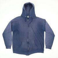 Vtg 80s 90s Sun Faded Hooded Sweatshirt Jacket Distressed Grunge Skate Surf M?