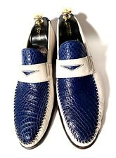 Raschini Hand-Mady Crocodile Leather + Leather Shoes Size 45, UK-11, US-12