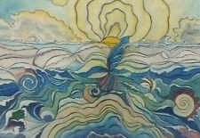 Surreale Meeresszene Gemälde Rudi Meyer 1948 Düsseldorf Neue Sachlichkeit