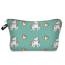 Unicorn Make Up Bag Pencil Case Peach Heart Unicorn Sky Cosmetic Bag for Girls