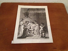 Antique Print After Hogarth The Inn Keepers Wife Taking Care of Don After Beaten