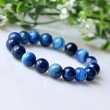 Agate Bracelet Jewelry Bracelet Gemstone 6Mm Diameter Sea Blue Agate Bracelet
